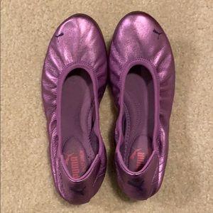 Womens Puma Karlie Foil Ballet Flats